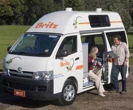 Britz HiTop Campervan hire in Australia