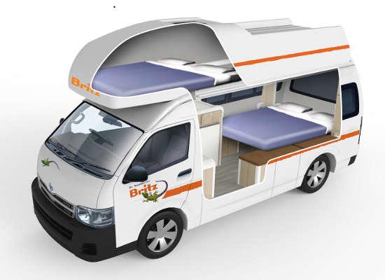 Britz 4 Berth Campervan Hire Voyager Campervan Drivenow