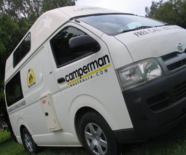 Camperman Australia 5 berth Motorhome Hire in Australia